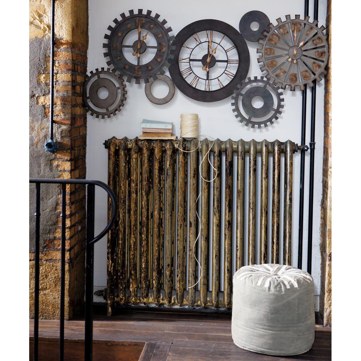 Horloges rouages en métal L 164 cm | Horloge metal, Horloge et ...