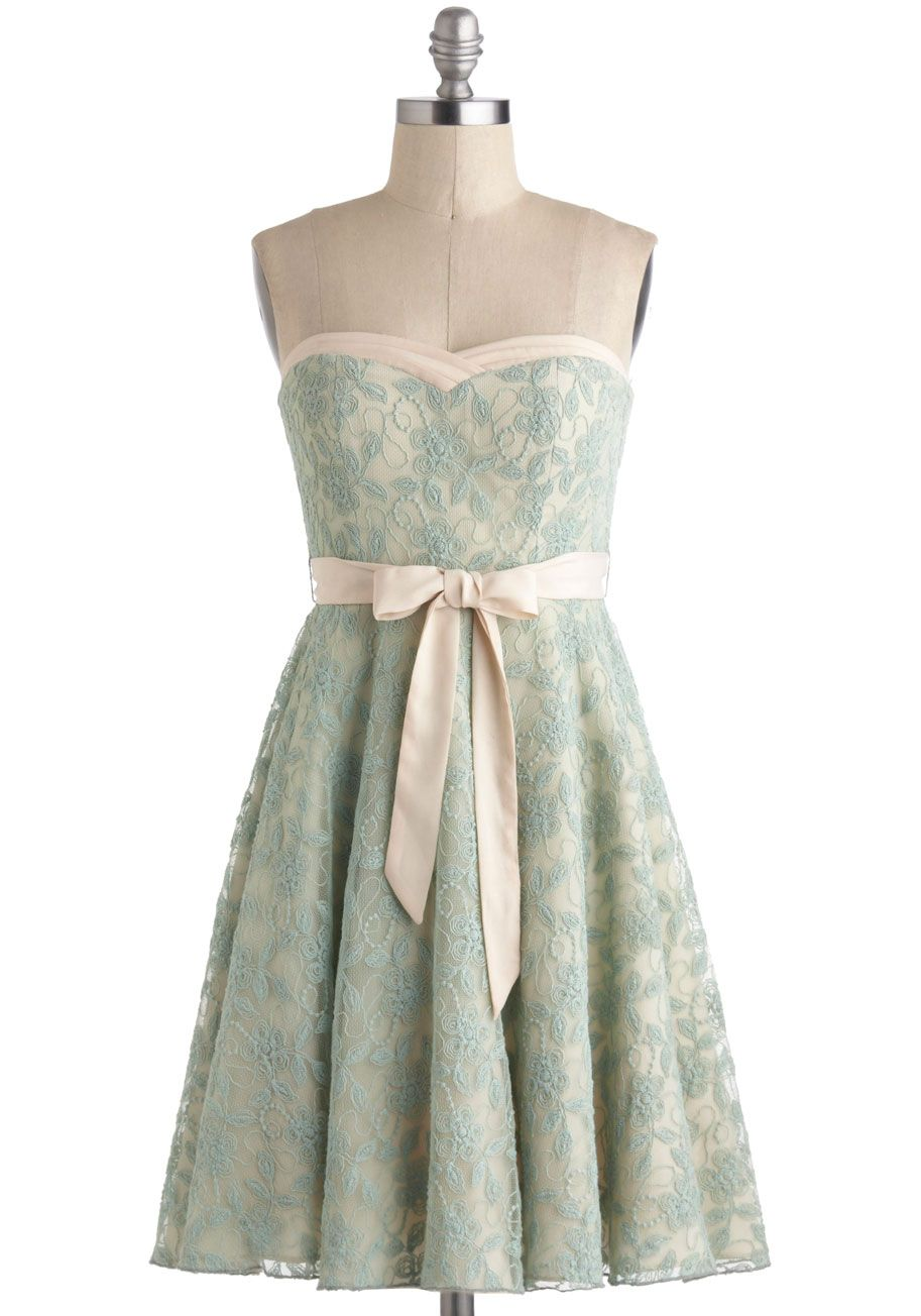 A chance to dance dress in mint mint solid lace aline