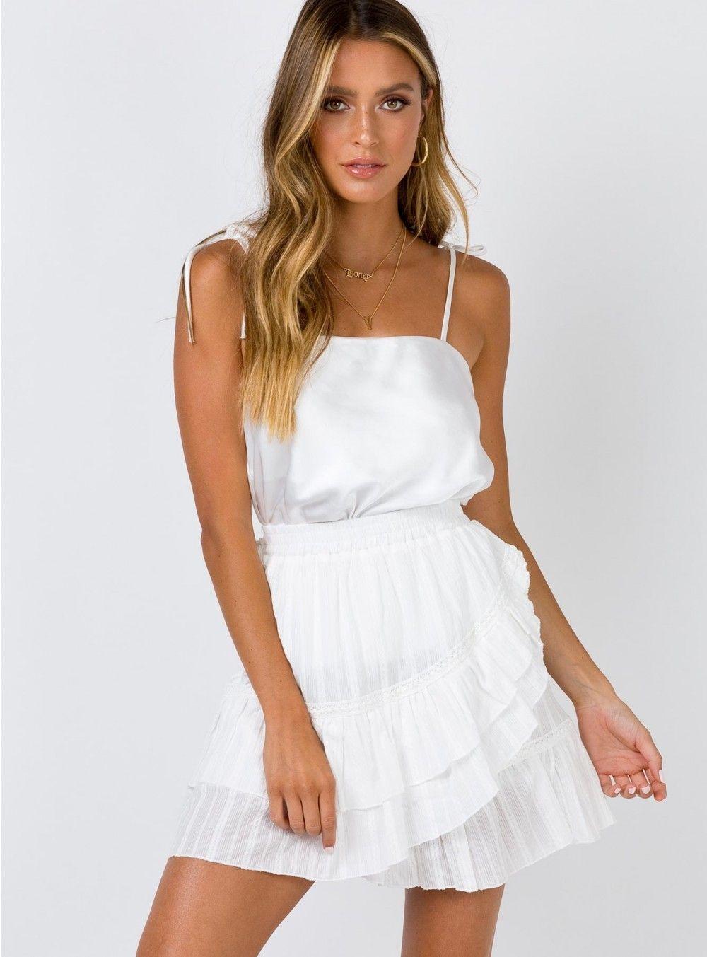 The Clem Mini Skirt White US 8 / White Mini skirts