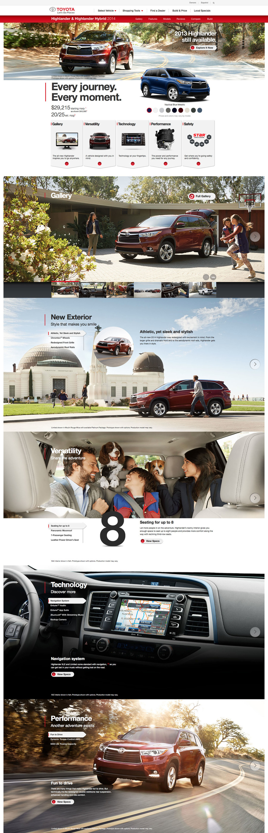 2014 Toyota Highlander - Scott Pargett #webdesign #website #inspiration