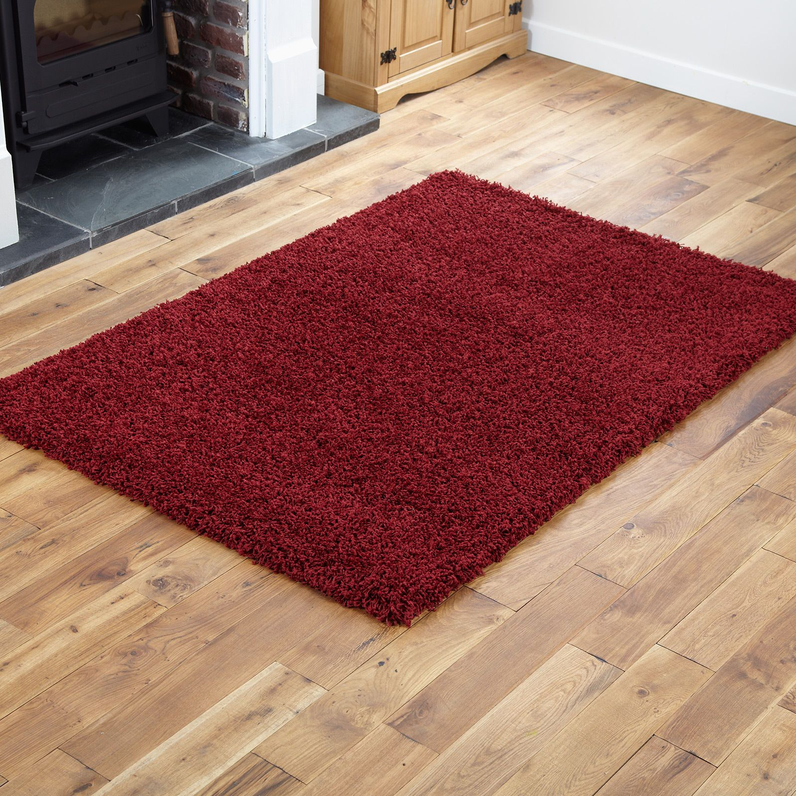Small X Extra Large Thick Modern 5cm High Pile Plain Soft Non Shed Shaggy Rugs