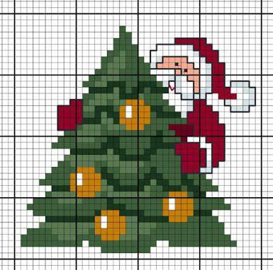 Resultado de imagem para point de croix noel   Cross stitch christmas cards, Cross stitch ...