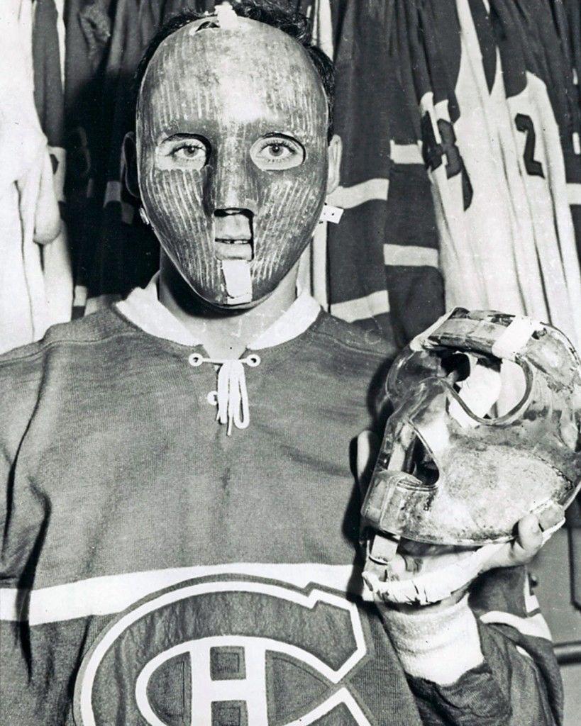 Jacques Plante Canadiens Primitive Goalie Mask ( hockey), 1959 ...