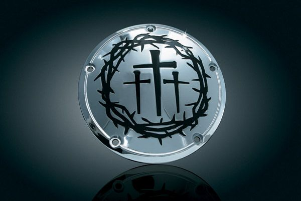 Crown of Thorns and 3 Crosses Derby Cover | 7500118 | J&P Cycles