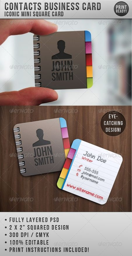 Business Card Business Cards Creative Square Business Cards Square Business Cards Design