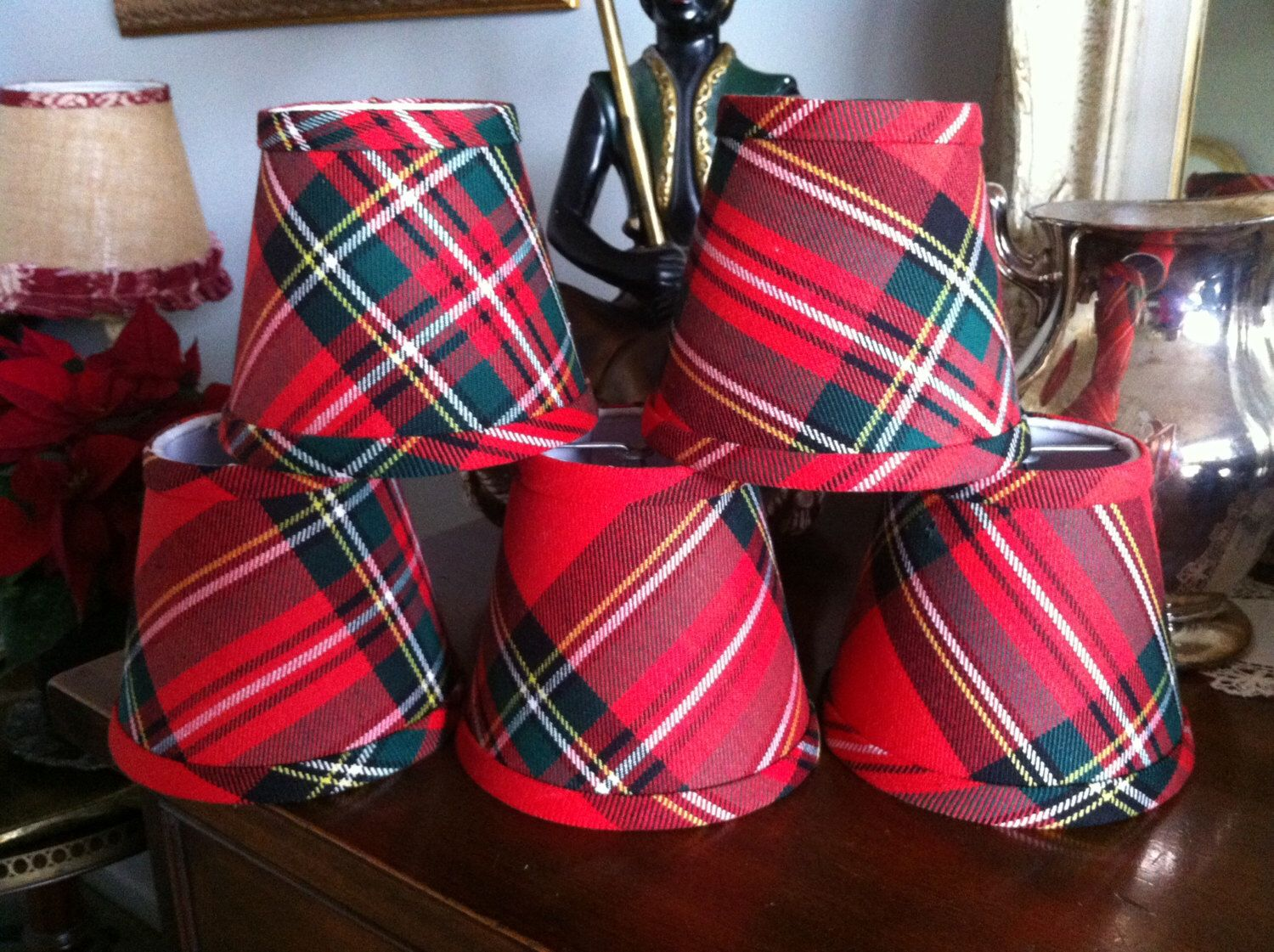 Red Tartan Chandelier Lampshade Plaid Shade Shades By Simplyshades On Etsy Https
