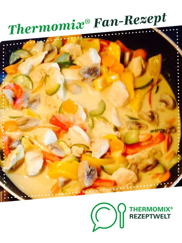Photo of Vegetable pan with coconut curry sauce
