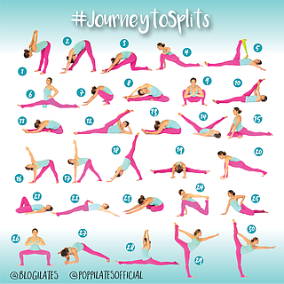30 days  30 stretches to splits journeytosplits