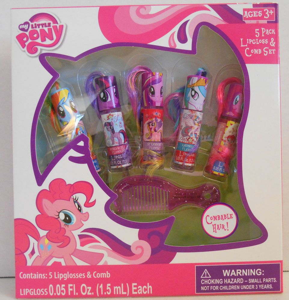 My Little Pony 5 Pack Lip Gloss & 1 Comb Set Ponies Have