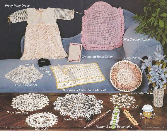 Elegant Crochet Annies Attic Crochet Pattern Booklet Crochet