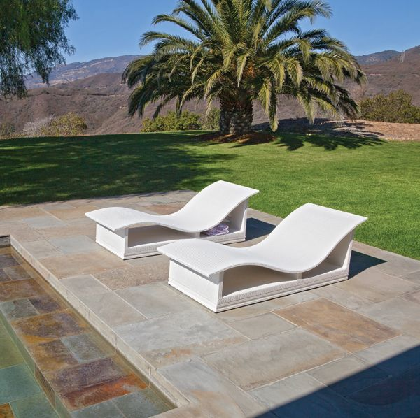Woven Furniture   Pool Lounge Chairs For The Pool Deck With Contrasting  Chairs For The Sun Shelf