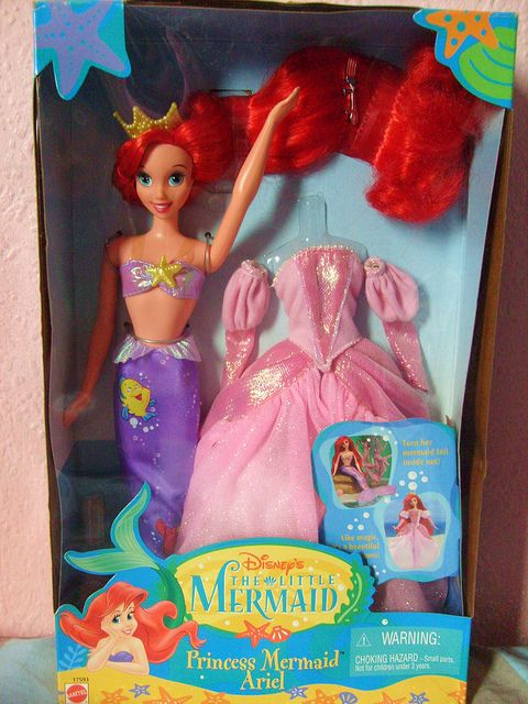 e23d136136ea8 The Little Mermaid's Princess Ariel doll. I know I had this doll, but I  think my brother killed her. Had the dress for forever and my matching  Prince Eric ...