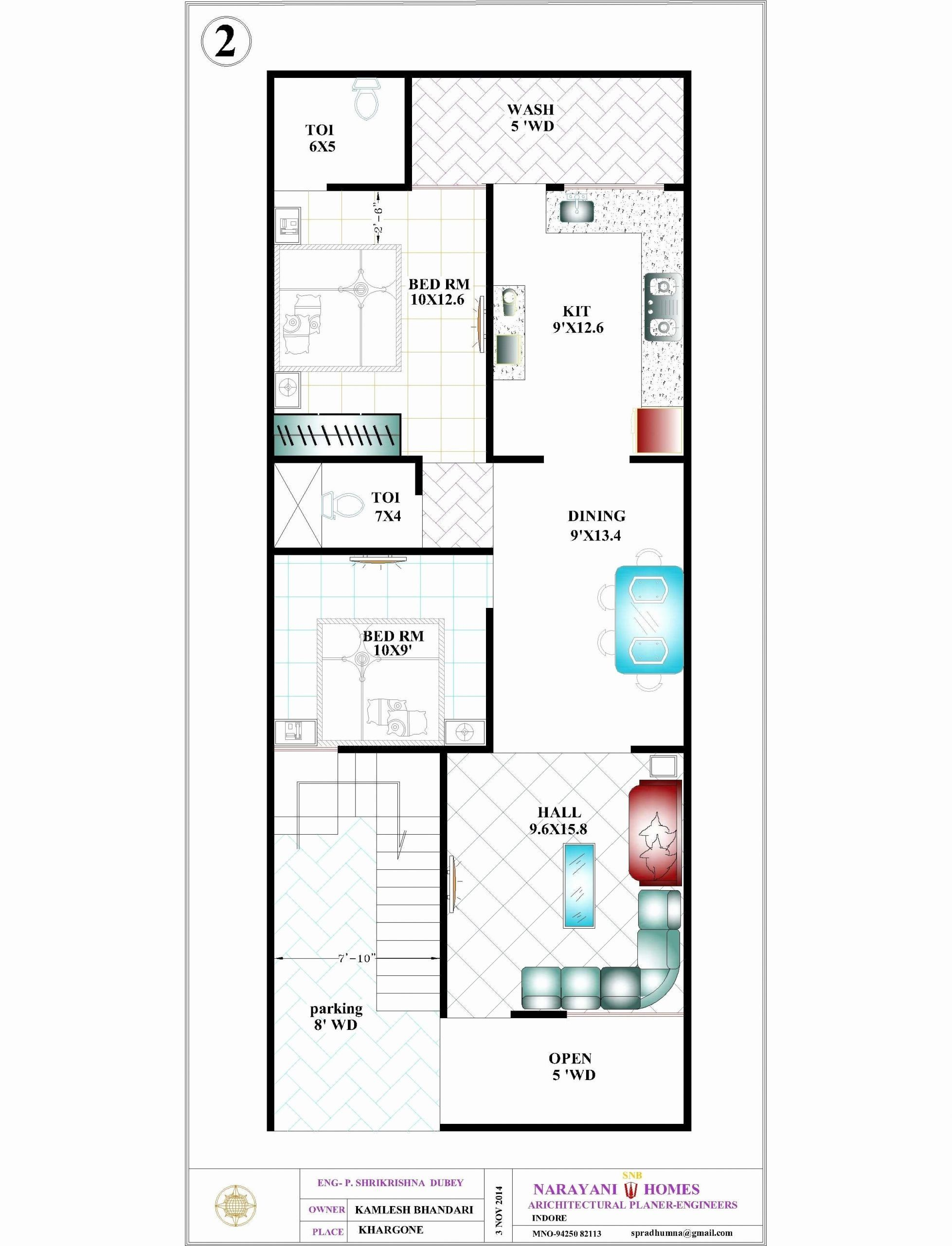 50 X 50 House Plans Beautiful 44 20x50 House Plan For House Plan In 2020 New House Plans 20x30 House Plans 20x40 House Plans