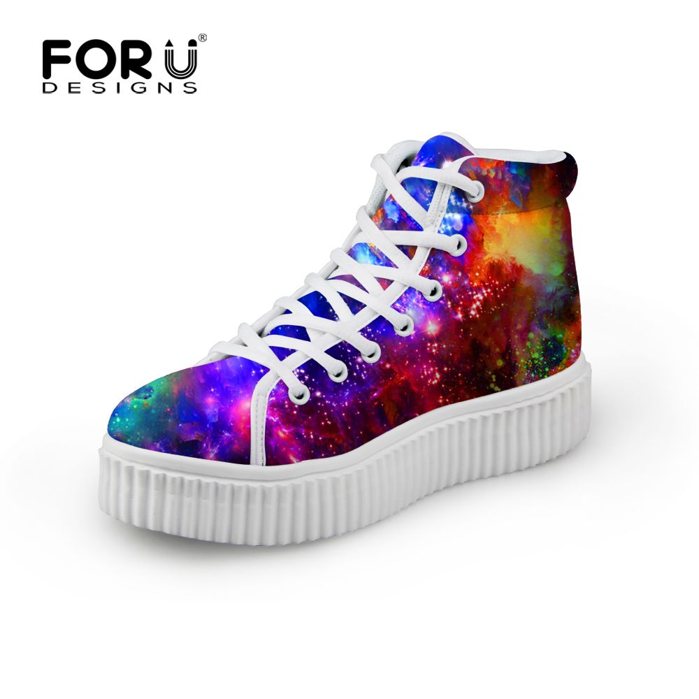 Women Flat Platform Shoes High Top Round Toe Ladies Breathable Fashion Sneakers