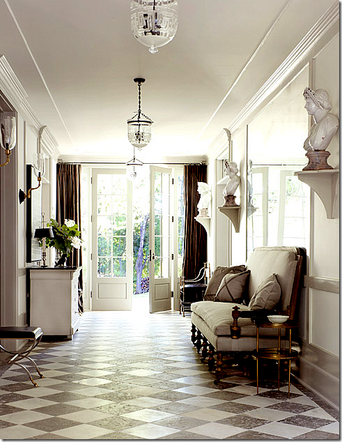 WOW.. love the decor and look at those floors... from cote de texas