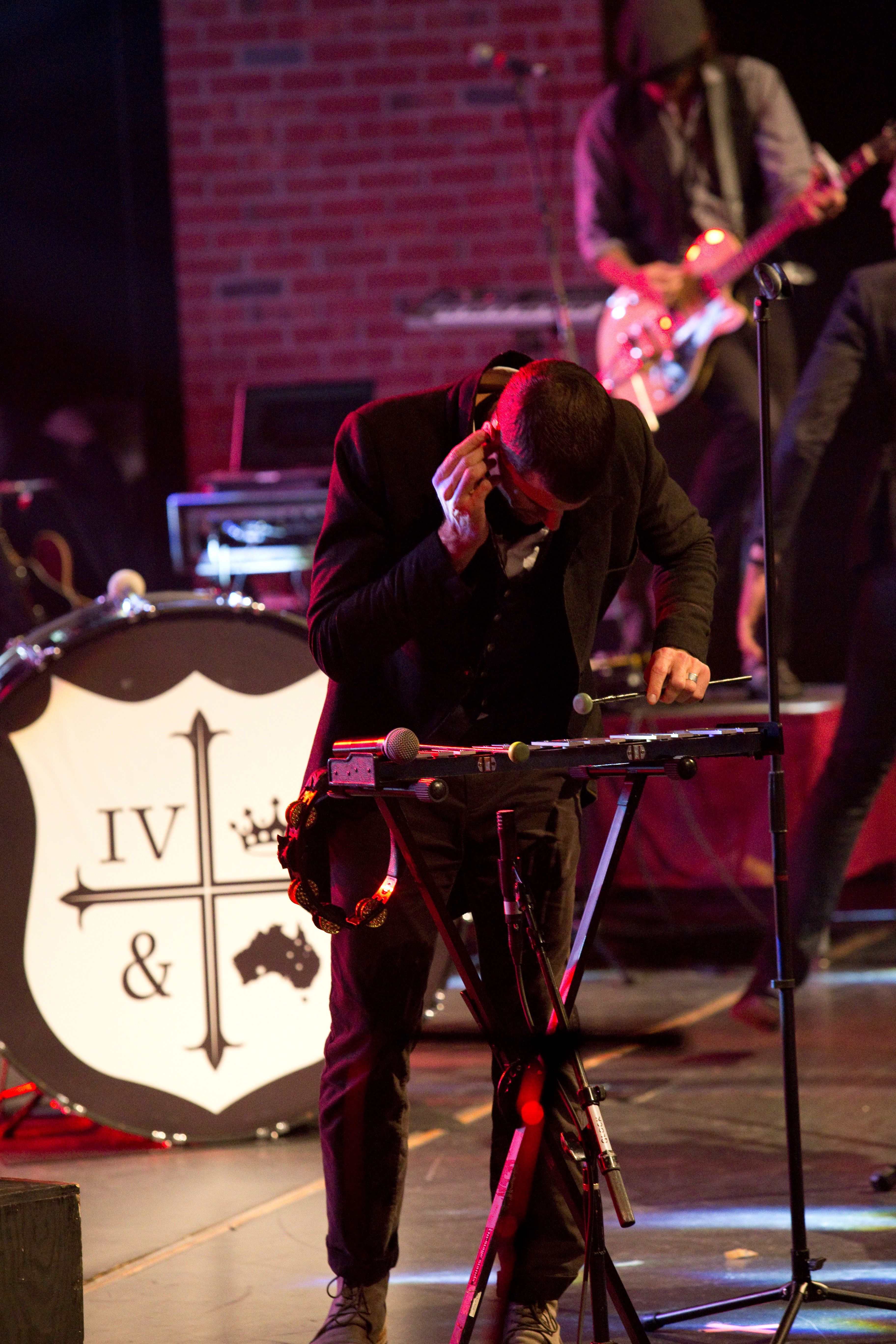 K Love Christmas Tour 2019 Joel from for KING & COUNTRY on the glockenspiel in Indianapolis