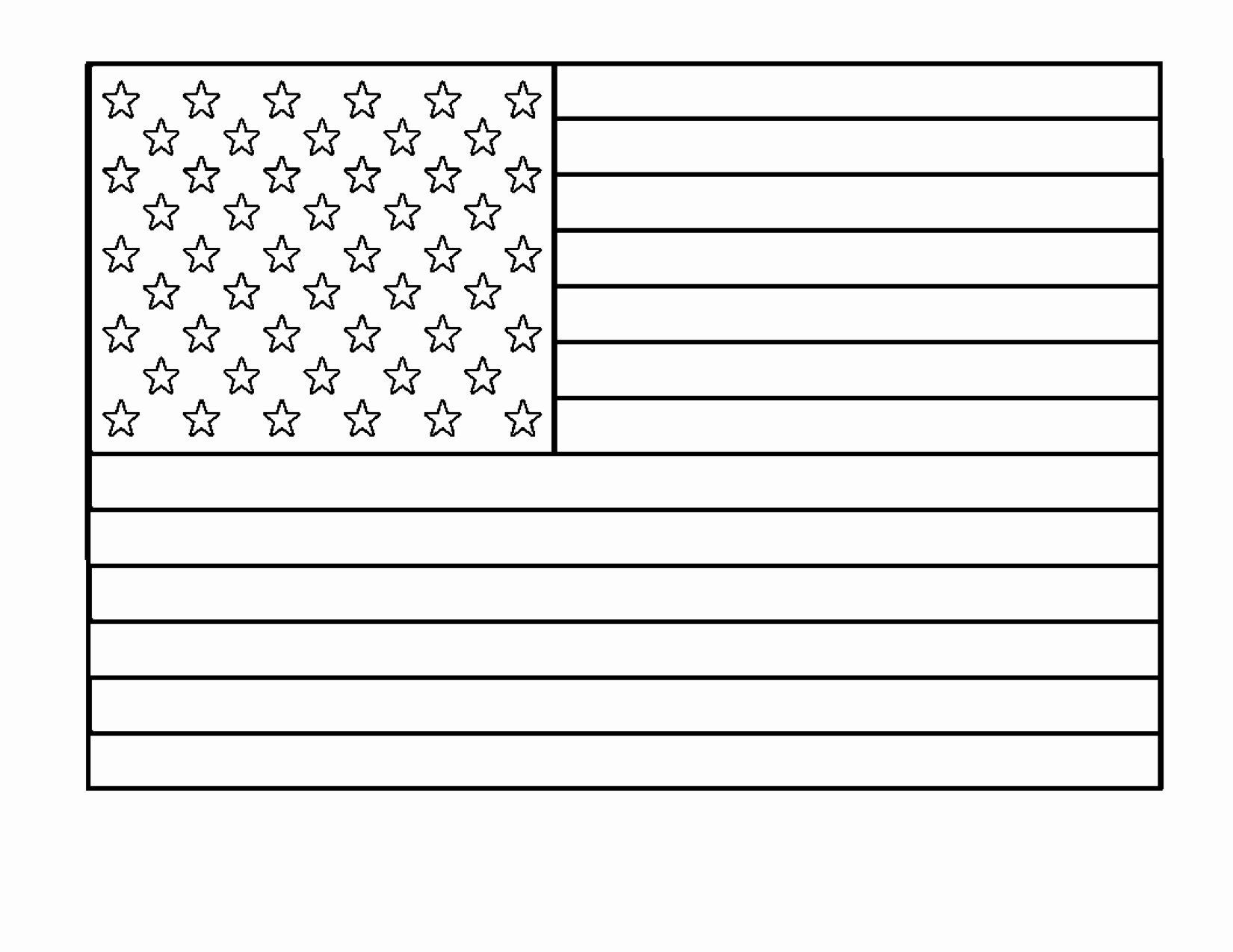Blank Flag Coloring Page Di