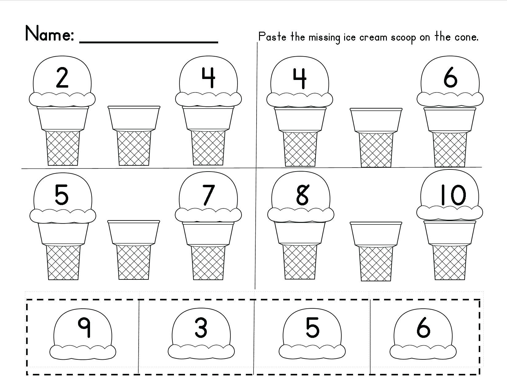 Free Number Recognition Worksheets Pictures