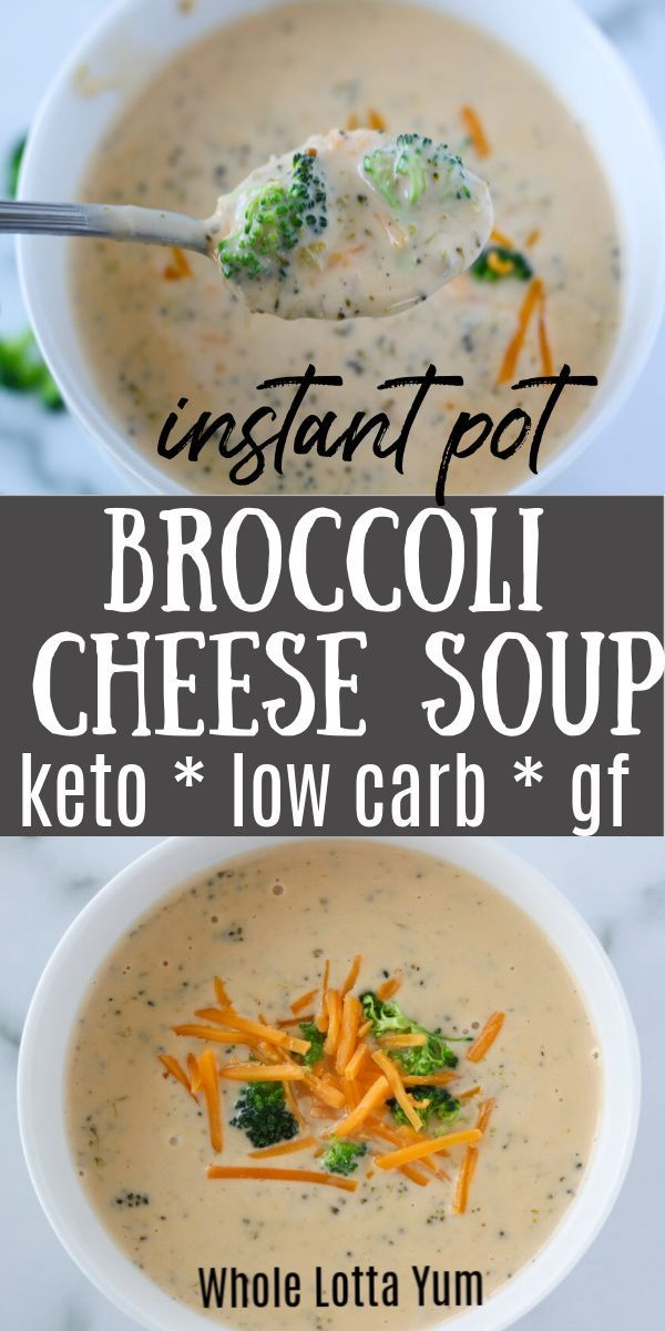 Instant Pot Broccoli Cheese Soup (Slow Cooker Instructions Too!)