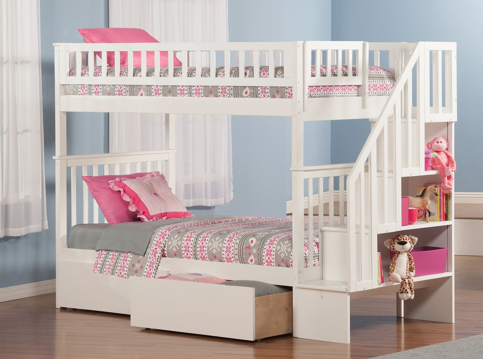 Woodland Twin Bunk Bed with Storage | Products | Pinterest