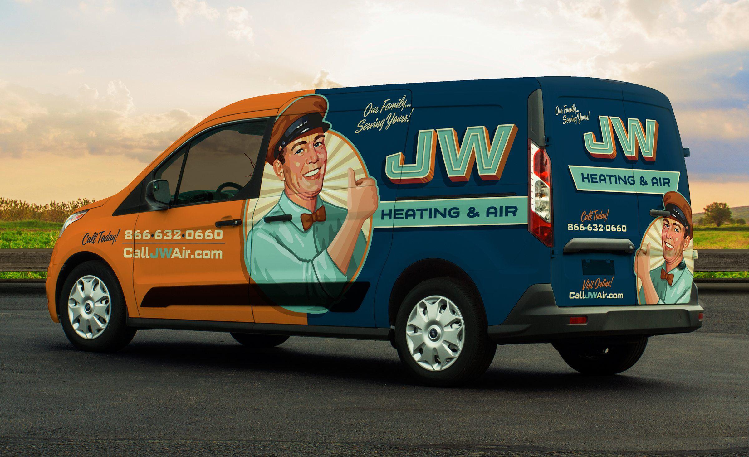 Jw Heating Air Kickcharge Creative Cool Trucks Car Wrap