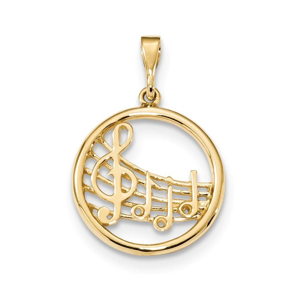 Jewels Obsession Easy Does It Saying Charm Pendant 17 mm 14K Yellow Gold Easy Does It Saying Pendant