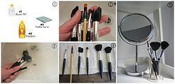 Limpeza pincéis maquilhagem |  Clean Makeup Brushes