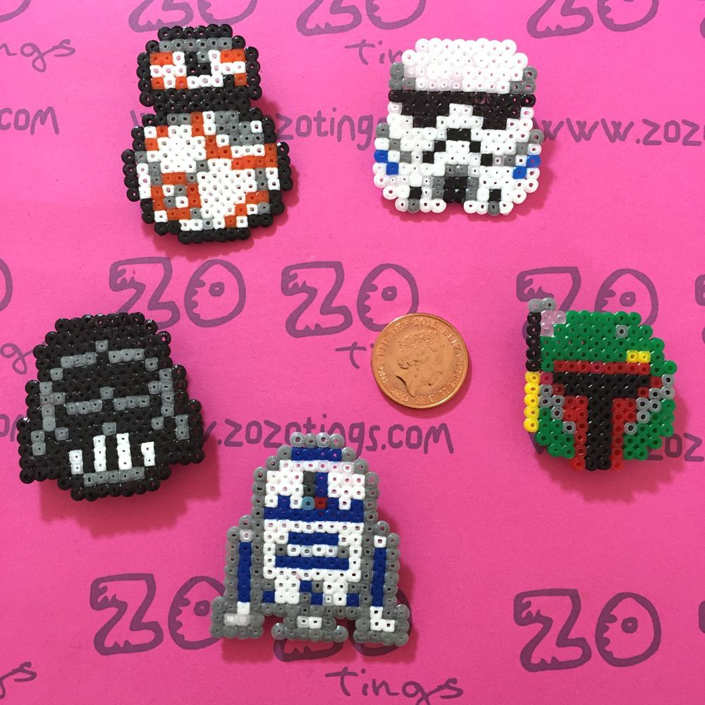 The product Star Wars Pixel Badges is sold by Zo Zo Tings in our Tictail store.  Tictail lets you create a beautiful online store for free - tictail.com