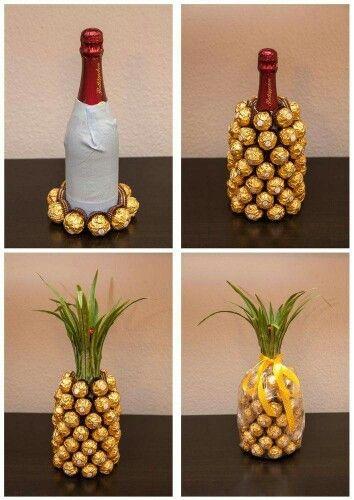 Ananas champagne - cadeau parfait - original