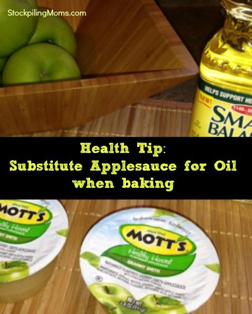 Heart Healthy Baking Tip - Substitute Applesauce for Oil #hearthealthydesserts