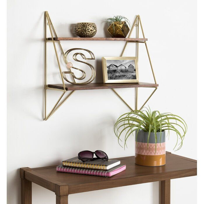 Elsie Decorative Mid Century Modern Wall Shelf Shelves Floating