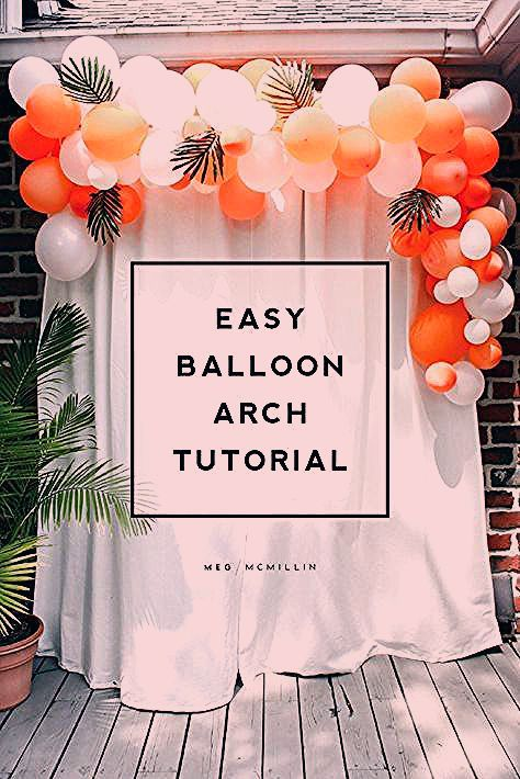Photo of how to make an easy balloon arch