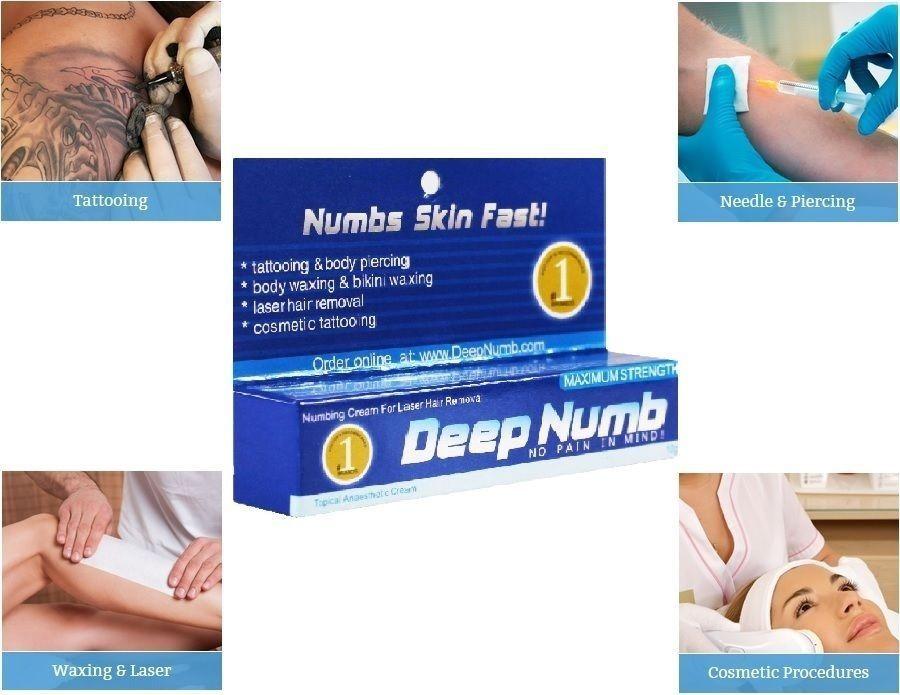10g deep numb skin numb numbing cream painless piercings