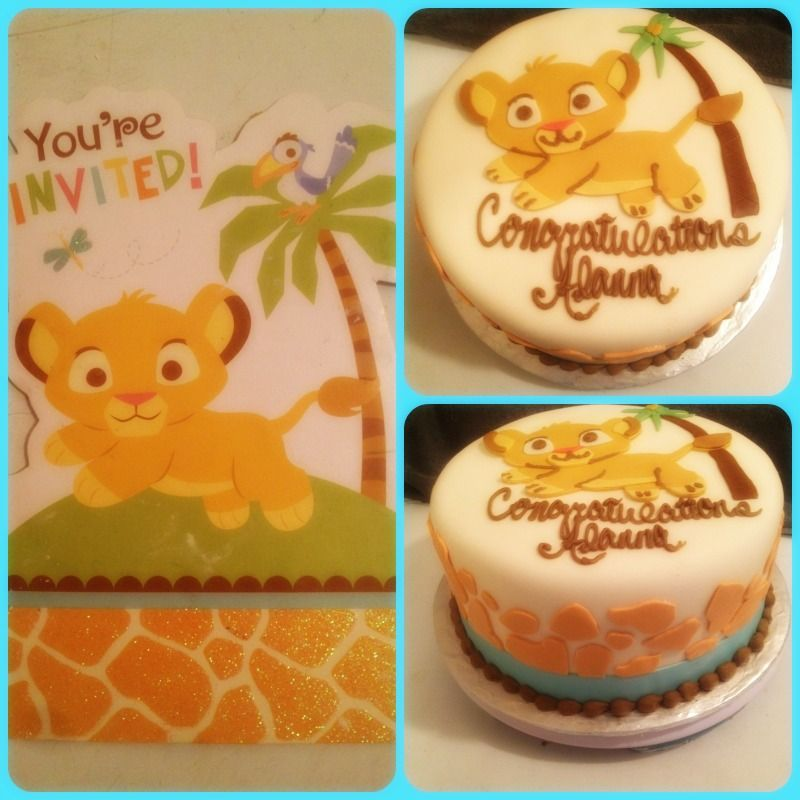 Lion King Baby Shower Sheet Cakes