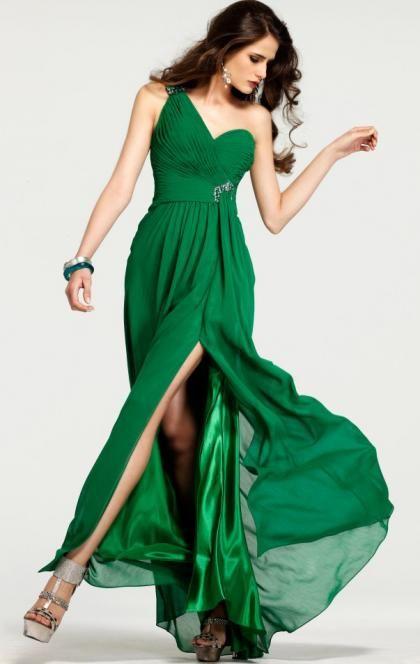 38754fb4d534 2016 Long Green Tailor Made Evening Prom Dress(LFNCE0031) cheap  online-MarieProm UK