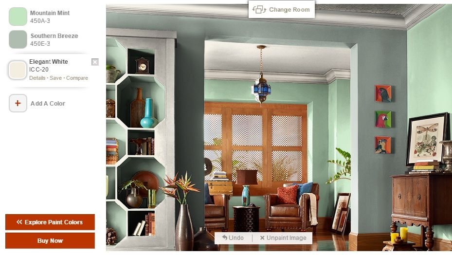 behr mountain mint and summer breeze family room colors on behr paint your room virtually id=52130