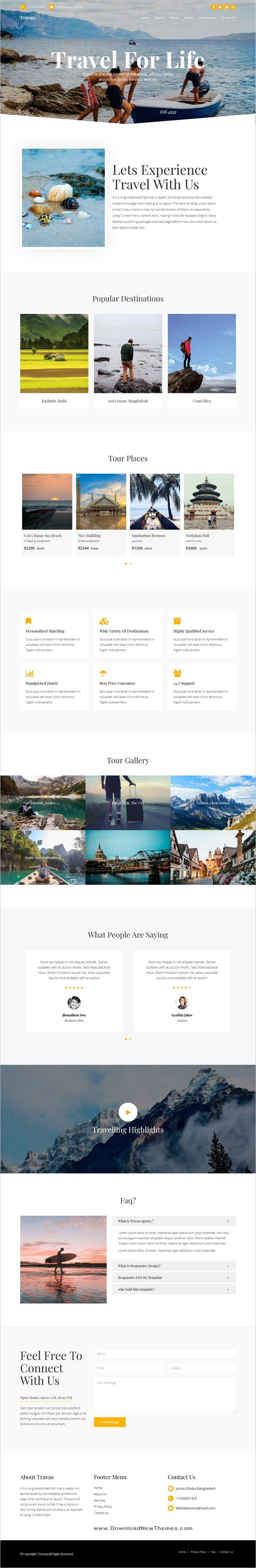 Travas is a clean and modern design 2in1 responsive
