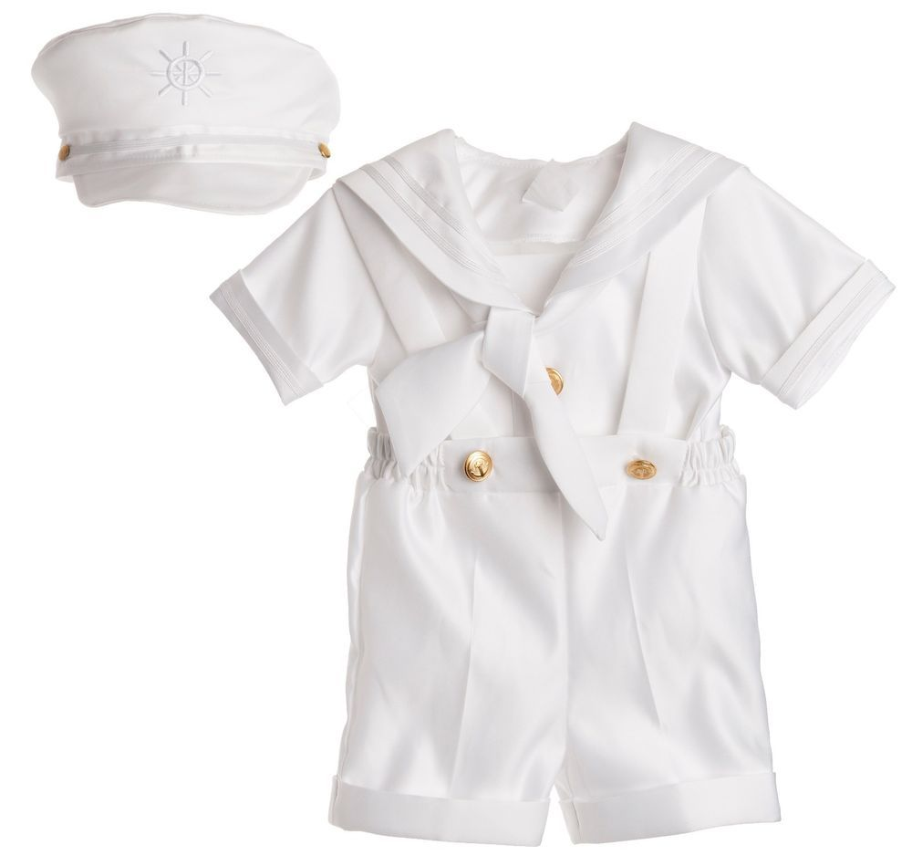 New Baby Toddler Boys Nautical White Shorts Suit Sailor