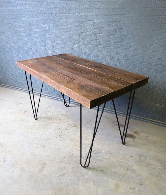 Industrial Chic Reclaimed Custom Hairpin Leg Office Desk Table