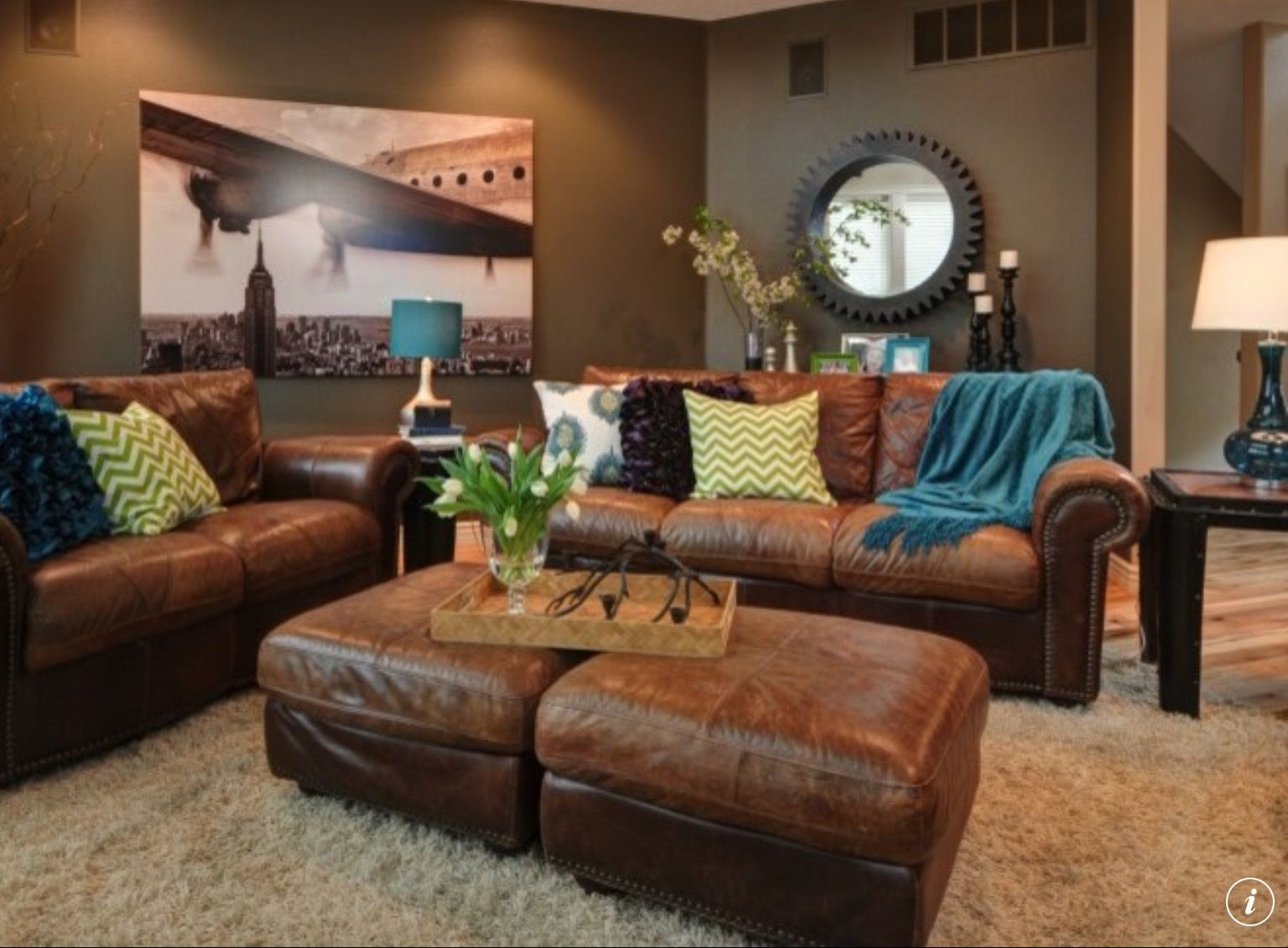 Love The Color Scheme In This Room, Specially The Sofas!