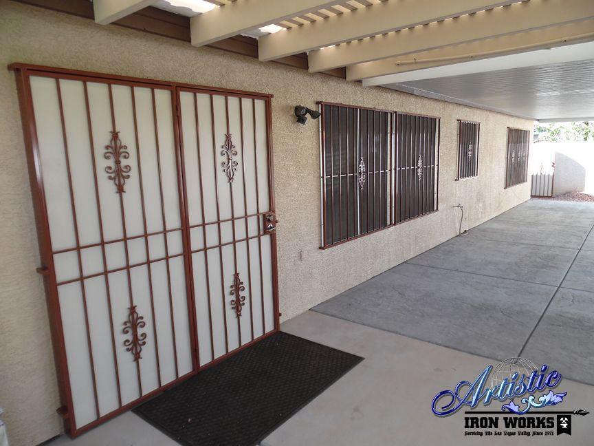 Econoline Wrought Iron Security Screen Patio Door And Window