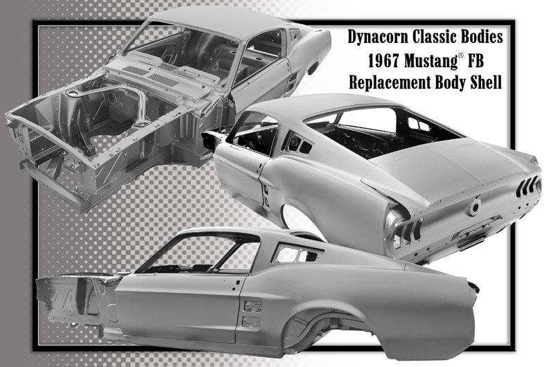 classic mustang replacement body shells by dynacorn - Mustang Frame