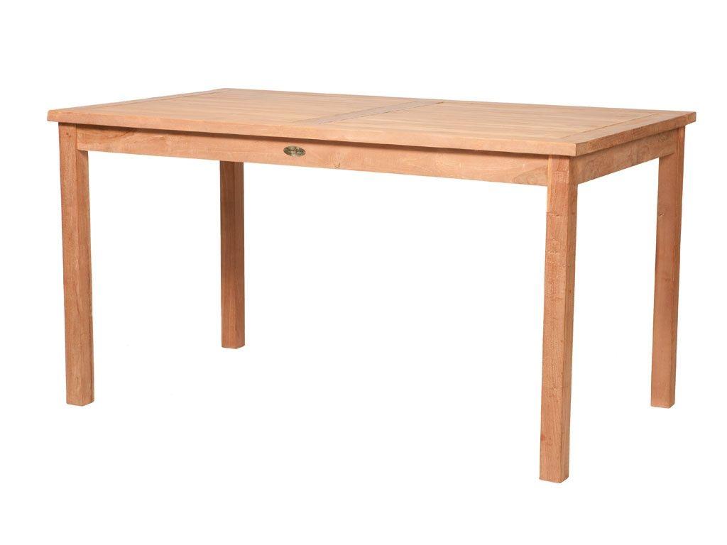 Teak Massivholz Tisch Carlton Garten geölt 140 x 80 cm ...