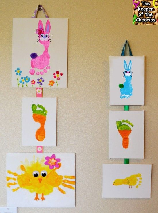 wonderful diy easy and cute easter hand foot print art - Kid Prints