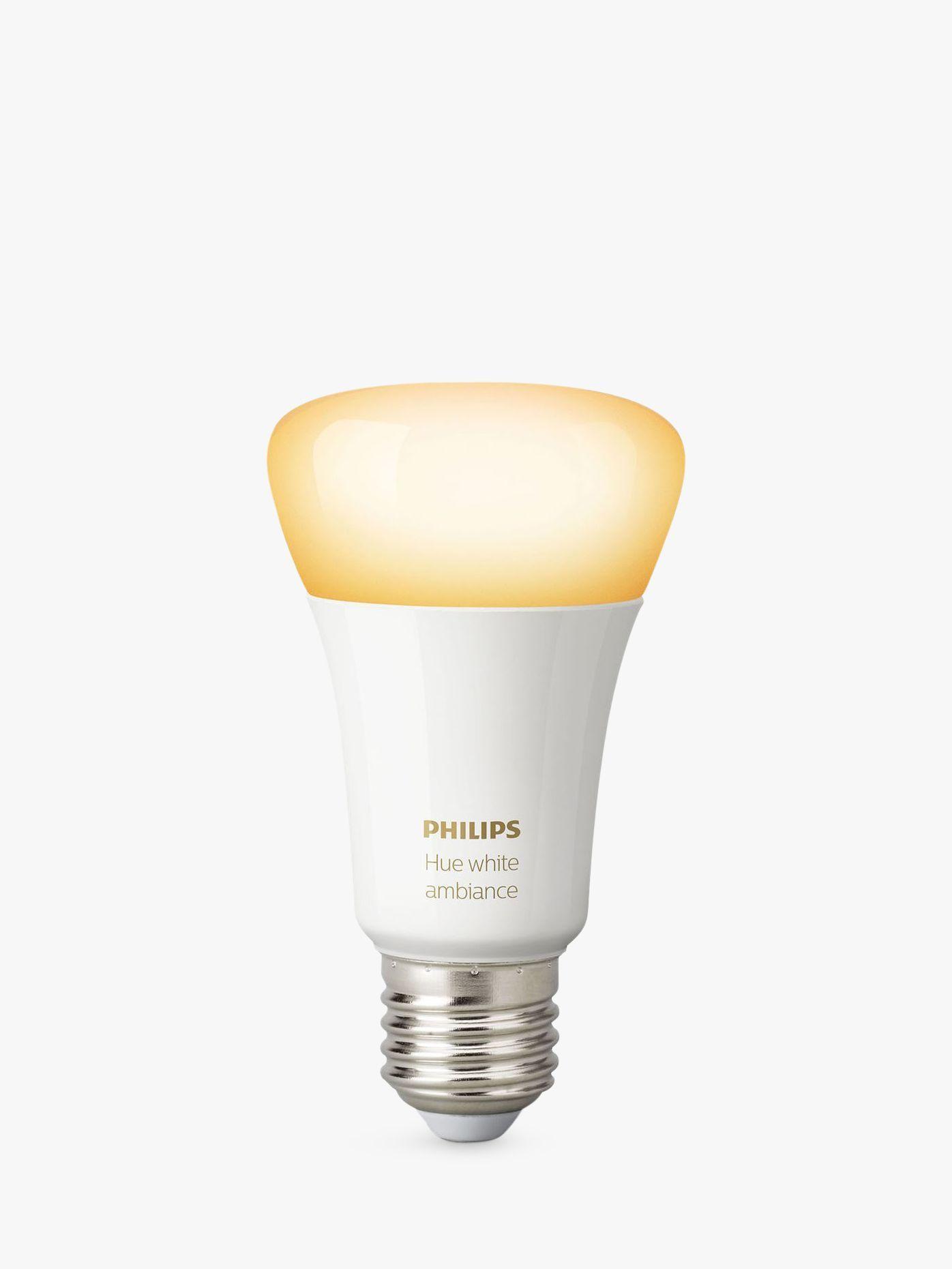Philips Hue White Ambiance LED-Glühbirne mit drahtloser Beleuchtung, 9,5 W A60 E27 Edison-Schraubbirne, einzeln#a60 #ambiance #beleuchtung #drahtloser #e27 #edisonschraubbirne #einzeln #hue #ledglühbirne #mit #philips #white