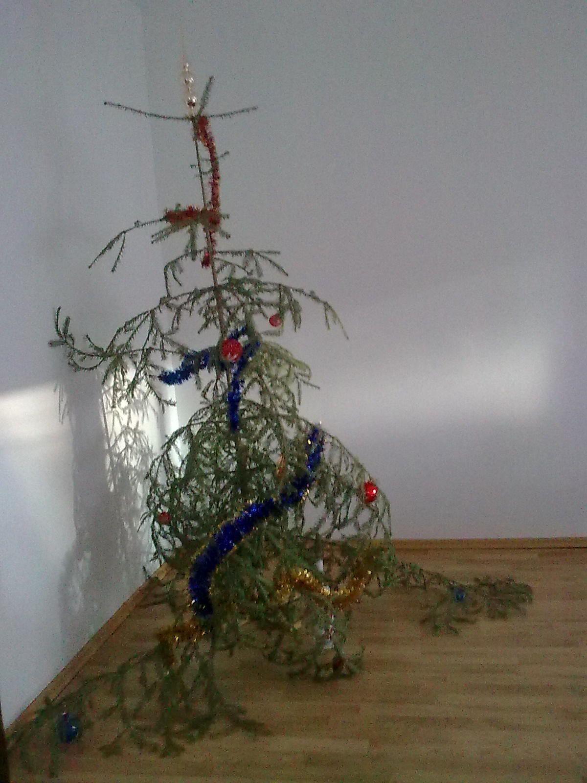 Christmas tree FAIL......lol | Green Garden Christmas.... we love ...