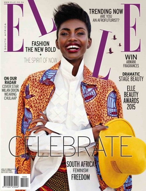 "#MagLove 27 March: ""Luscious illustration and simplistic typography"". ELLE South Africa, April 2015."