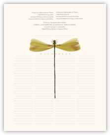 Dragonfly Wings Butterfly Wedding Certificates