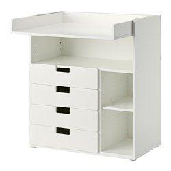 STUVA Wickeltisch Mit 4 Schubladen, Weiß