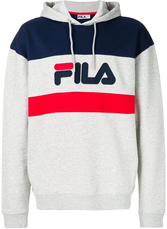Fila Colour Block Hooded Sweatshirt | ABBIGLIAMENTO